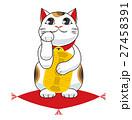 招き猫 縁起物 座布団のイラスト 27458391