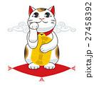 招き猫 縁起物 座布団のイラスト 27458392