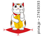 招き猫 縁起物 座布団のイラスト 27458393