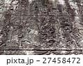 アンコール遺跡群の中にあるバイヨン寺院のレリーフ 27458472