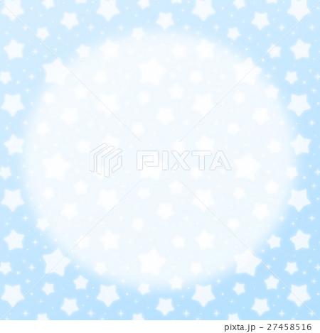 ファンシーでかわいい 星とキラキラの幻想的なパステルカラーコピースペース 正方形 水色 27458516