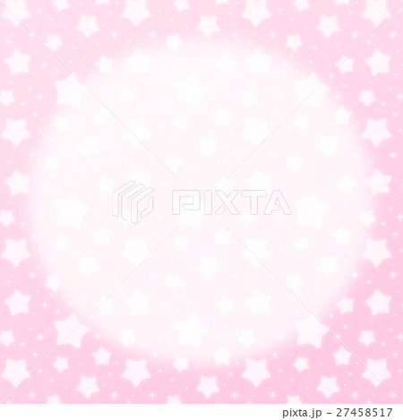 ファンシーでかわいい 星とキラキラの幻想的なパステルカラーコピースペース 正方形 ピンク色 27458517