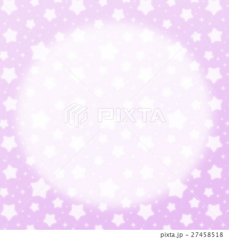 ファンシーでかわいい 星とキラキラの幻想的なパステルカラーコピースペース 正方形 紫色 27458518