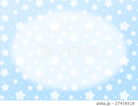 ファンシーでかわいい 星とキラキラの幻想的なパステルカラーコピースペース 長方形 水色 27458519