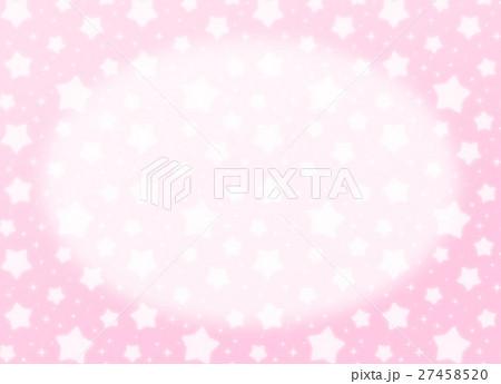 ファンシーでかわいい 星とキラキラの幻想的なパステルカラーコピースペース 長方形 ピンク色 27458520