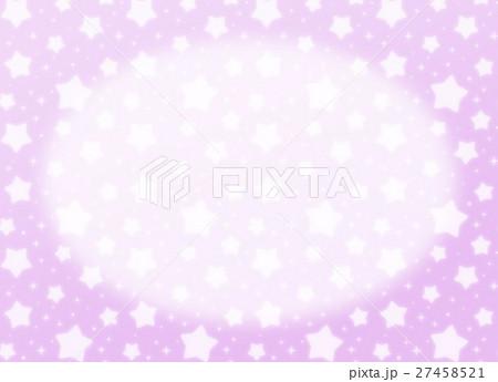 ファンシーでかわいい 星とキラキラの幻想的なパステルカラーコピースペース 長方形 紫色 27458521