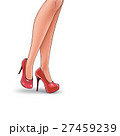 Vector pop art illustration of female legs 27459239