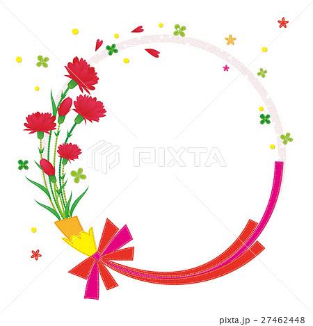 花 フレーム カーネーション のイラスト素材