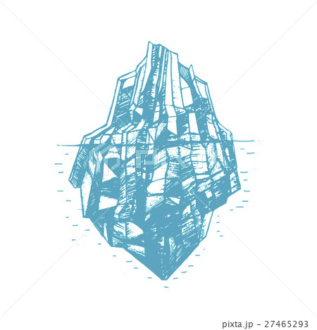 Iceberg Hand Draw Sketch. Vector 27465293