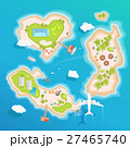 islands top aerial view - travel tourism vector 27465740