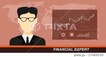stock market and financial expertのイラスト素材 [27469350] - PIXTA