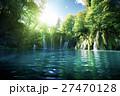 Waterfall in forest,  Plitvice, Croatia 27470128