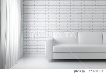 3D illustration of relax white room, relaxing. 27470934