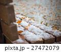 雪 ベンチ 冬の写真 27472079