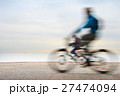 Cyclists, motion blur 27474094