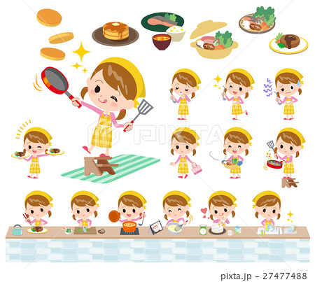 Pink clothing girl cooking2 27477488