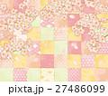 桜 チェック カラフル パターン 27486099