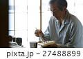 一人暮らしをする高齢者 お弁当 27488899