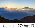 富士山 日の出 ご来光の写真 27490413