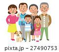 家族 人物 三世代のイラスト 27490753