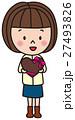 バレンタインデー チョコレート 女の子 27493826