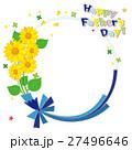 フレーム 父の日 花のイラスト 27496646