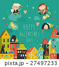 Cute angels celebrating Valentines Day 27497233