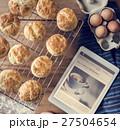 Baked Scone Pastry Eggs Digital Tablet Concept 27504654
