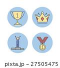 アイコン メダル 勲章のイラスト 27505475