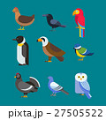Birds vector set illustration isolated 27505522