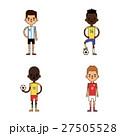 サッカー 選手 ユニフォームのイラスト 27505528