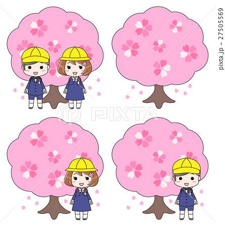桜 さくら 4月 入学式 小学一年生 お祝い校門 記念撮影 27505569