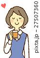 若い女性 OL コーヒーブレイク 27507360