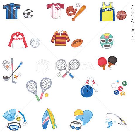 スポーツ手描き素材セット 27510518