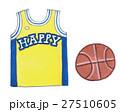 バスケットボールとユニフォームの手描き素材 27510605