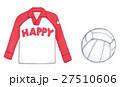 バレーボールとユニフォームの手描き素材 27510606