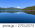神奈川_箱根芦ノ湖と富士山 27512573