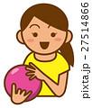 ボウリング 少女のイメージイラスト 27514866