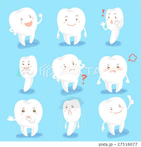 cartoon tooth do different emoji 27516077