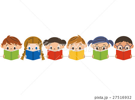 本を読む子供たち 27516932