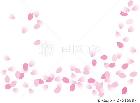 花筏 桜花びら流水背景 透かし 27516987