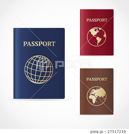 Vector passport set. Flat Designのイラスト素材 [27517239] - PIXTA
