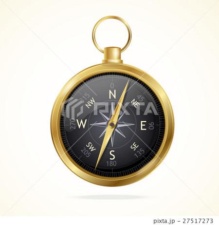 Vector retro style metal compass.  27517273