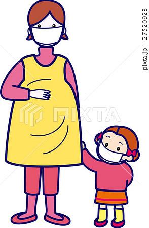 花粉症対策マスクの母子 妊婦 風邪予防・インフルエンザ 27520923