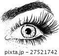 目 眼 まつ毛のイラスト 27521742