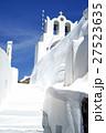 サントリーニの白い道と教会 27523635
