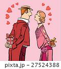 バレンタイン プレゼント ハートのイラスト 27524388