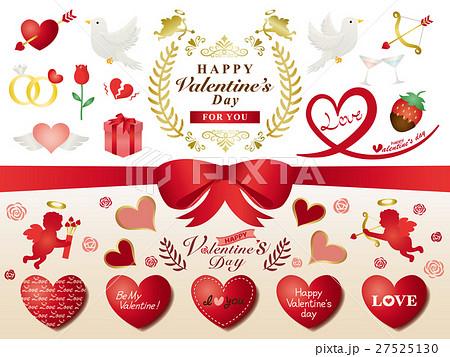 バレンタイン イラスト素材セット 27525130