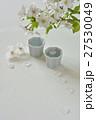 日本酒と桜の花 27530049
