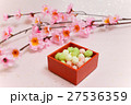 ひなまつりのひなあられと桃の花 27536359